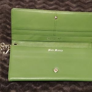Rare Juicy couture tri fold green wristlet wallet